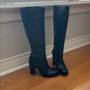 Sam Edelman Regina Black leather high heel boots